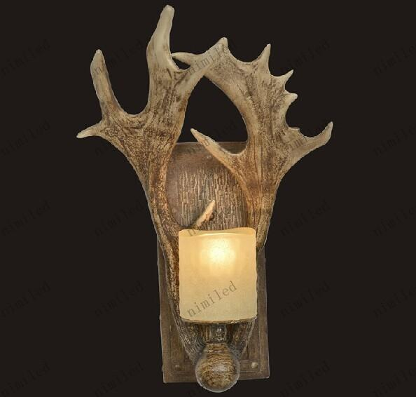 nimi508 Personalizzato American Antlers Country Designer lampade da parete lampada da comodino camera da letto a parete luce specchio illuminazione luci corridoio