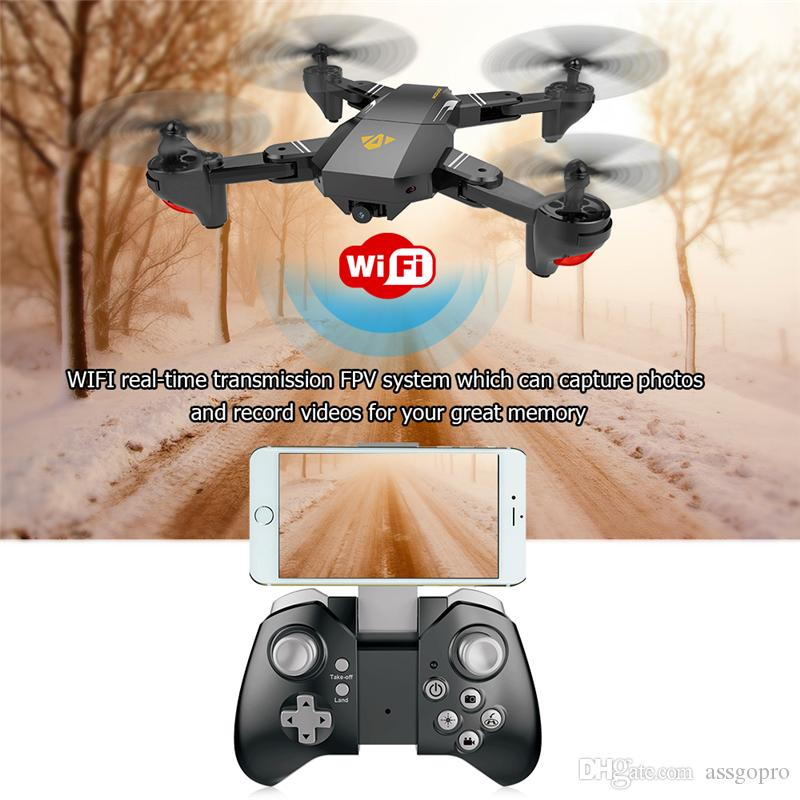 Original Visuo XS809HW RC Drone Mini Foldable Selfie Drone with Wifi FPV REAL TIME 2MP HD Camera Altitude Hold Quadcopter Hot Xmas Gift