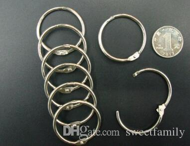 50mm Book Hoop Binding Rings Binder Hoops Loose Leaf Ring Scrapbook Album DIY keyring