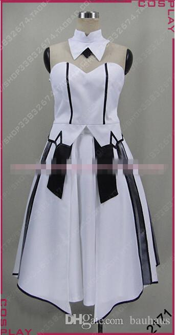 New Arrival Custom Made Fate/Zero SABER Dress White Version Cosplay Costume Halloween Party Event Coser Cosplayer