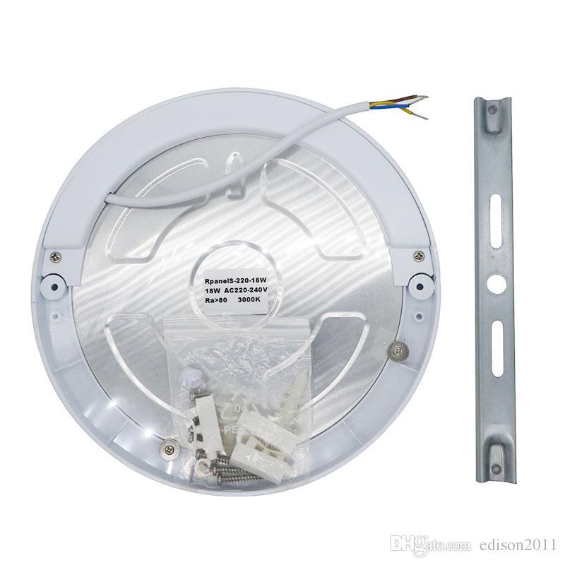 Edison2011 18W PIR Led Capteur Downlight Super Lumineux Led Panneau Lumière Infrarouge Détecteur de Mouvement Interrupteur Ronde Mont Lumière