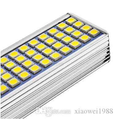 Tubo de luz de lámpara muestra de alta potencia LED G24 G23 E27 12W 44 SMD 5050 luz de pantalla plana de iluminación 85-265V