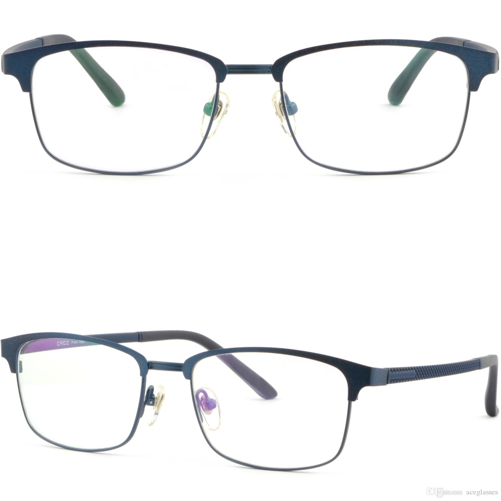 Mens Womens Titanium Frame Prescription Glasses Browline Rx ...
