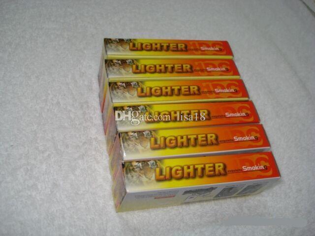 Светодиоды Тигр Зажигалки Новинка Большой Нож Ветрозащитный Зажигалка С Легкой Зажигалка Тактический Нож Карманный Нож Бутановой Зажигал Курение Набор Free Shipp