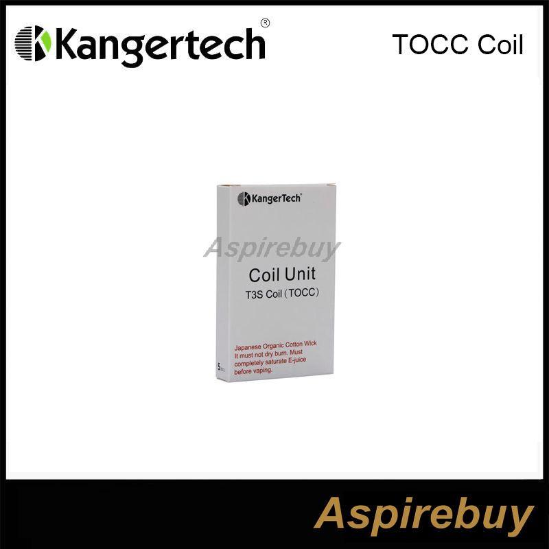 100% auténtico Kanger T3S MT3S Bobina TOCC Cabeza de bobina Mecha de algodón orgánico japonés t3s TOCC Wick para MT3S T3S atomizador DHL