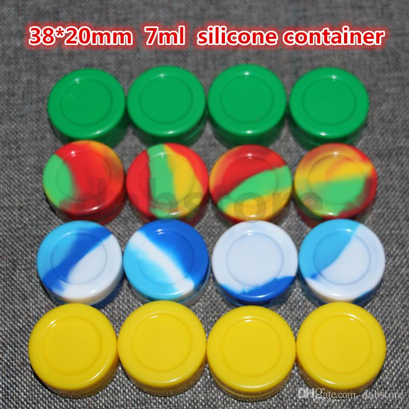 Silicon Container Jar Wax Concentrate 7ML Wax Containers Silicone Jars for Wax Silicone Jar Dab Nonsolid Color Jar Dab free DHL