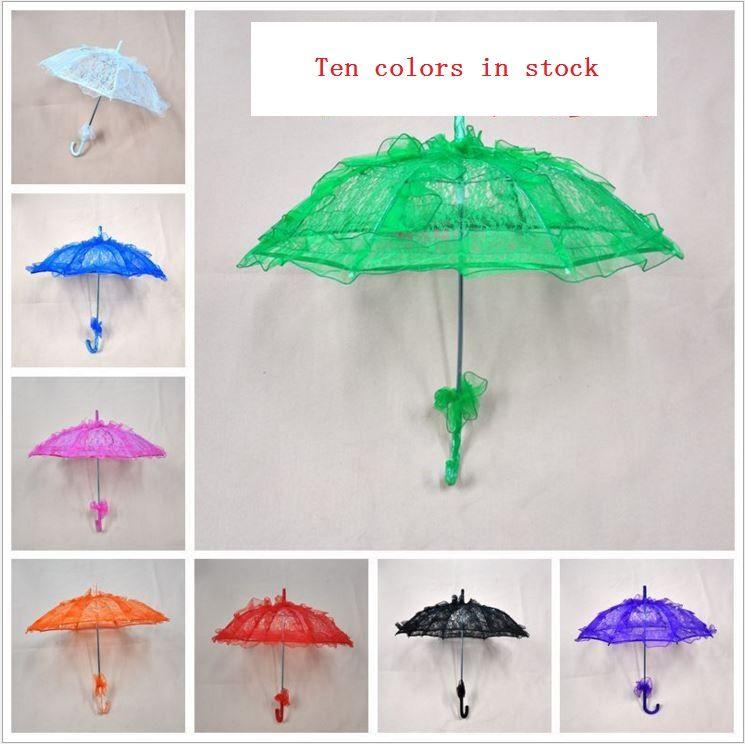 Bridal Umbrella For Wedding Goods Coloured Lace Umbrella Sun
