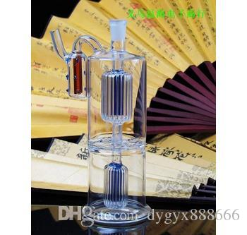 Classic two-layer color filter glass pot, colors, styles are random delivery, wholesale glass hookah, large better