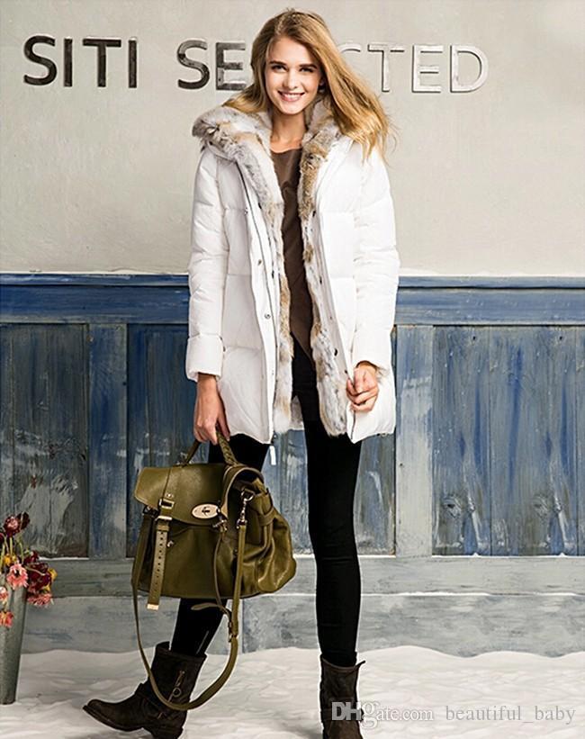 Womens white down jacket