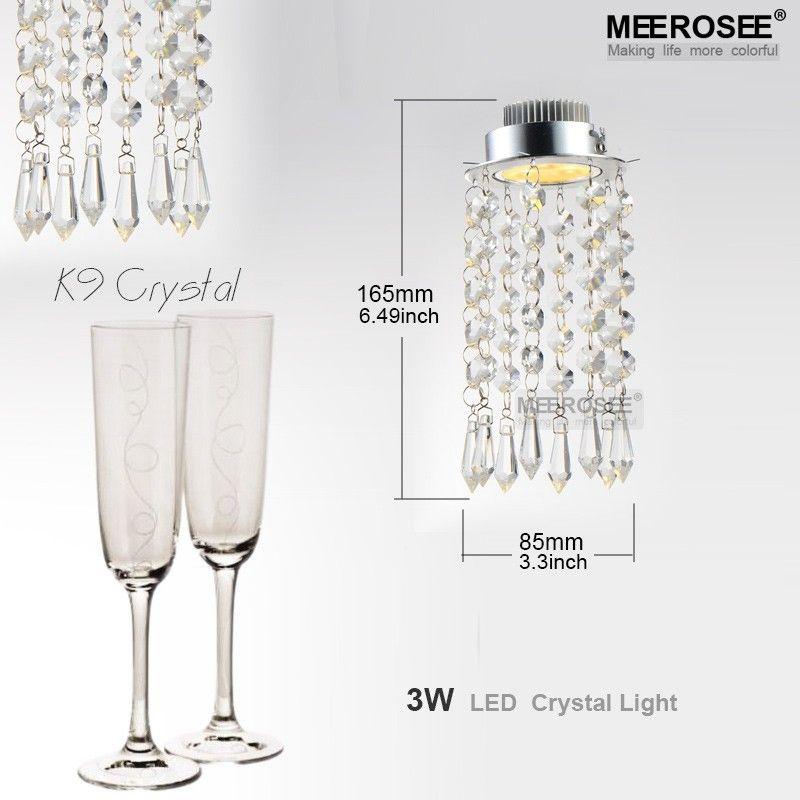 Lampadario di cristallo moderno Mini Lampadario di cristallo Lampada di cristallo lustri Apparecchio chiaro corridoio Corridoio Scala portico