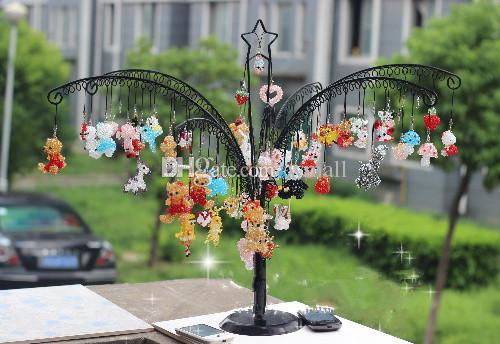 Christmas Jewelry Display Stand Rack Holder with 256 Holes tree shape Metal Stand for Earrings cell phone jewelry crystal accessories