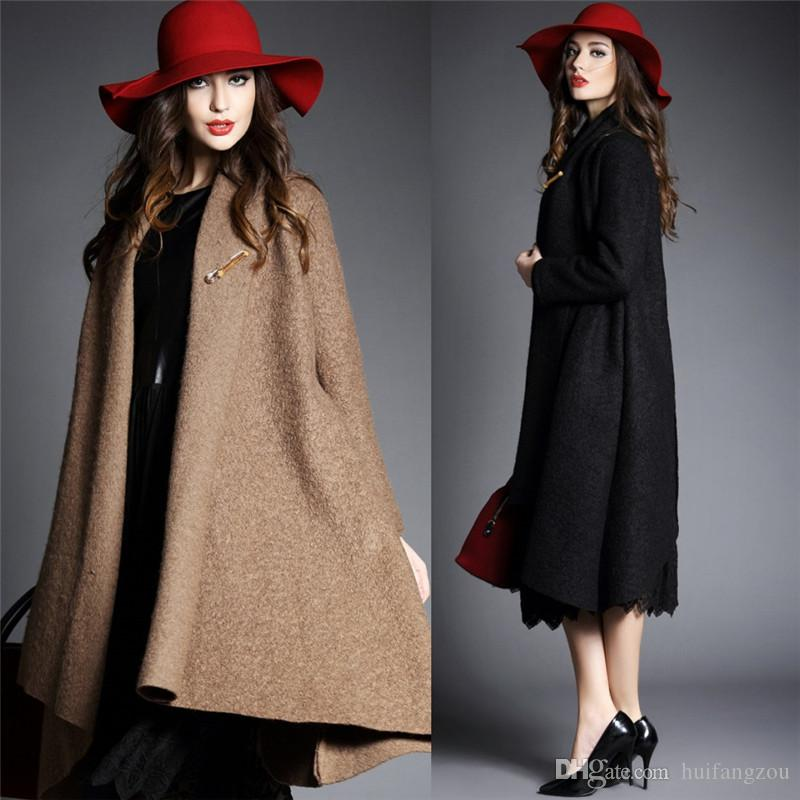 2017 Charming Wool Coats For Women Black Light Tan Fashion Jackets ...