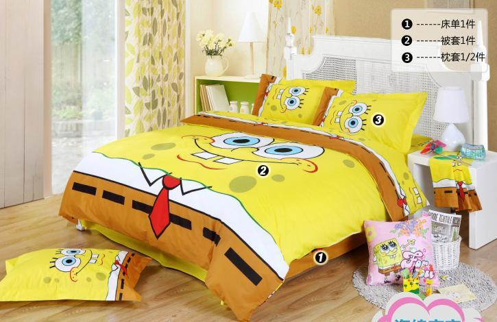 High Quality 2018 Spongebob Queen Bedding/Kids Queen Size Bedding Sheets//Comforter Set/Duvet  Cover Set/Bed Sets 100 Cotton From Freerenzhen2, $189.59 | Dhgate.Com