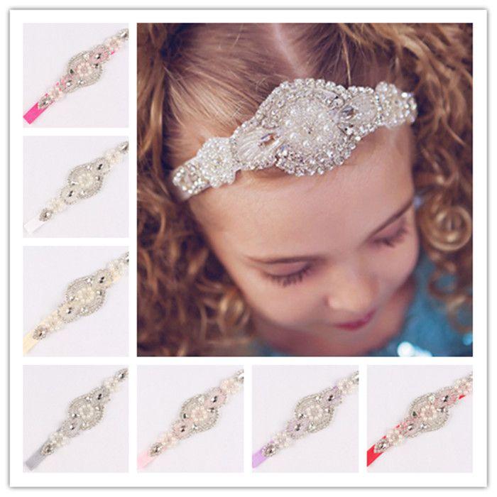 c04d2d9ab2f Photography Props Newborn High-Grade Baby Headbands With Beaded Rhinestone  Elastic Luxury Crystal Hairbands Girl Bridal Hair Accessories Baby Headbands  ...