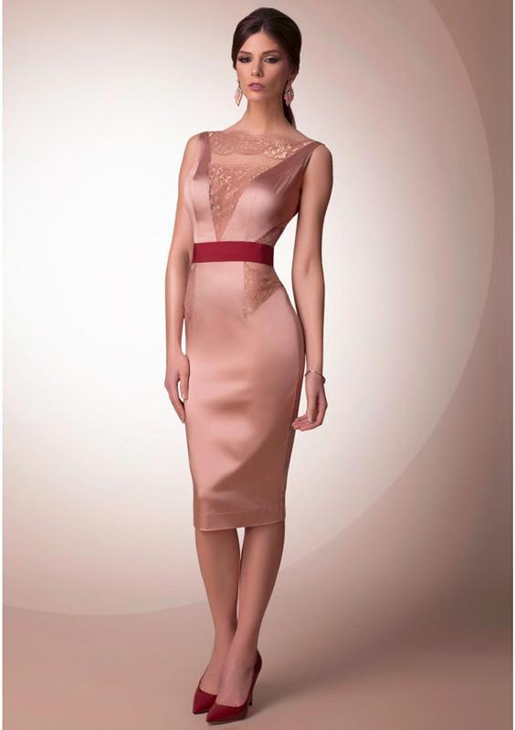 Hermosa Vestido Hasta La Rodilla Partido Imagen - Ideas de Estilos ...