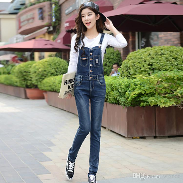 ad59eaf6b95 Hot Sale Autumn New South Korean Women Wear Fashion Slim Jumpsuit Trousers  Trend Cotton Cloth Jeans Canada 2019 From Wjx666