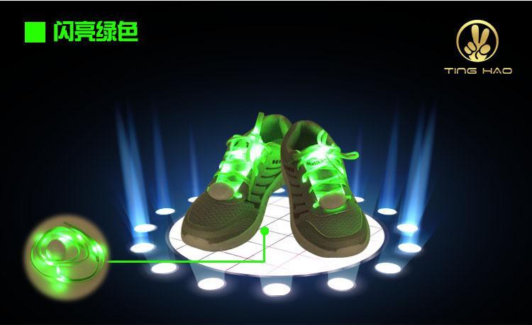 7 ألوان الصمام الحذاء اللمعان رباط الحذاء تضيء ديسكو حزب المرح الوهج الأربطة أحذية هالوين هدية عيد الميلاد مجانا DHL فيديكس