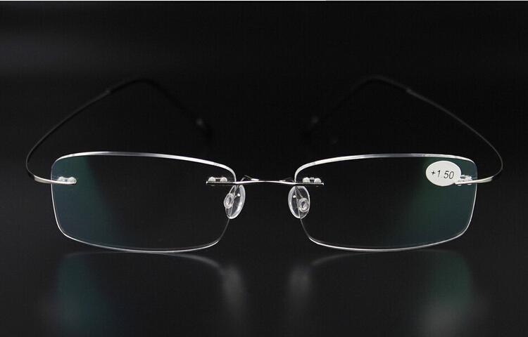 296d6e470d7 Wholesale-1105-1 New Brand Titanium Rimless Ultra Light Glasses Frame  Reading Glasses with Case Gunmetal +1.0 1.5  2.0 2.5  3.0 3.5 Glasses Men  Glasses Love ...
