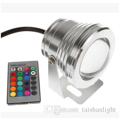 10W 12V Led Floodlight Warm Cool White RGB Outdoor Led Underwater Lights Waterproof IP68 Garden Lights