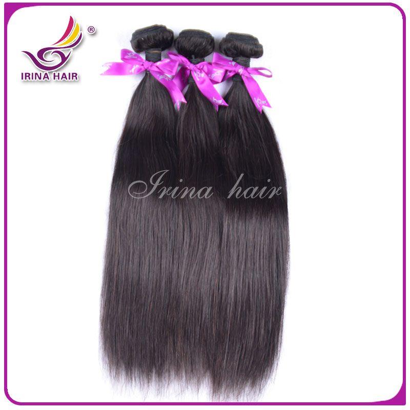 Unprocessed Brazilian Virgin Hair Straight 6 Bundles 100g/pcs Cheap Brazilian Straight Hair Wefts 100% Remy Raw Virgin Human Hair Weaves