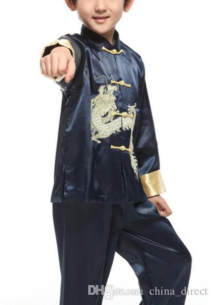 الصينية المطرزة التنين ارتداء دعوى تانغ مجموعات الصينية التقليدية الرقص kungfu الدعاوى darnsewear # 3761