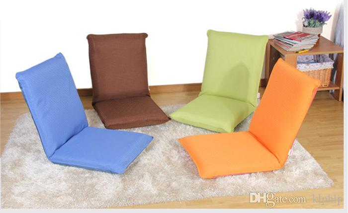 2018 Japanese Folding Floor Chairs Furniture 5 Position  Blue/Orange/Green/Coffee Modern Fashion Leisure Portable Recliner Floor  Chairs From Klphlp, ...