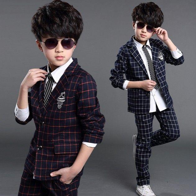 c9e81a5fc635e Special Children Suit Plaids Kids Blazers for Boys Formal Suit kids casual  blazer suits boy wedding clothes set 2pcs jacket+pants