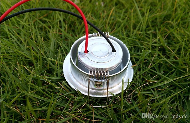 Cabinet Lampe 1W LED Spot de plafond Lumière blanche chaude Blanc naturel Blanc froid AC 85-265V Encastrable Downlight pour la décoration 1Watt