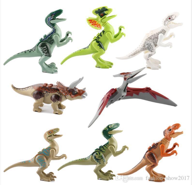 الديناصورات من كتلة لغز الطوب الديناصورات أرقام بناء كتل الطفل التعليم ألعاب للأطفال هدية لعبة أطفال