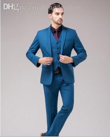 Online Cheap Wholesale Stylish Dark Blue Suit M 0724 Mens Formal ...