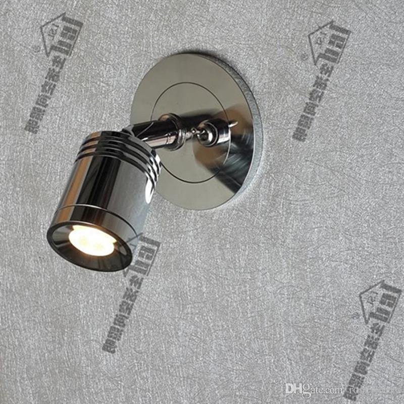 Incasso a parete luci Topoch con interruttore on-off discreti driver 3W Finish Chrome integrato LED l'hotel Residential Motorhome Yacht
