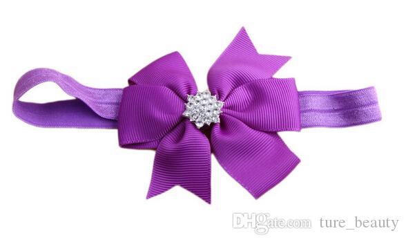 Livraison gratuite! 2015 nouveau bébé arc strass bandeau cheveux bowknot bandeaux infantile cheveux accessoires coiffe fleur /