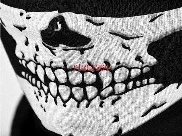 Fashion Skull Design Multi Function Bandana Motorcycle Biker Face Mask Neck Tube Scarf,