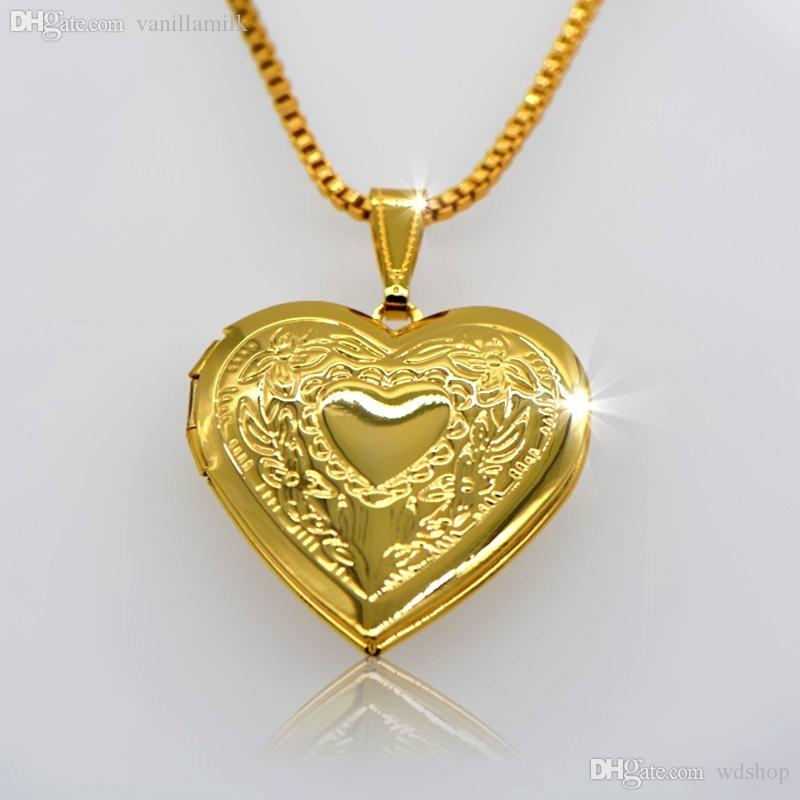 jewelry pictures trendy romantic solid gold pendant new ink valentines heart perfume locket lockets pendants or painting in necklace plated plating item vintage gift chinese put from fancy wholesale