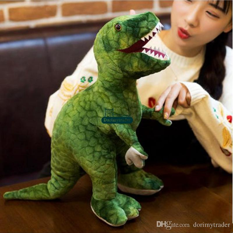 Dorimytrader pop cute animal dinosaur plush doll big stuffed anime Tyrannosaurus rex toy Triceratops pillow baby gift DY61884