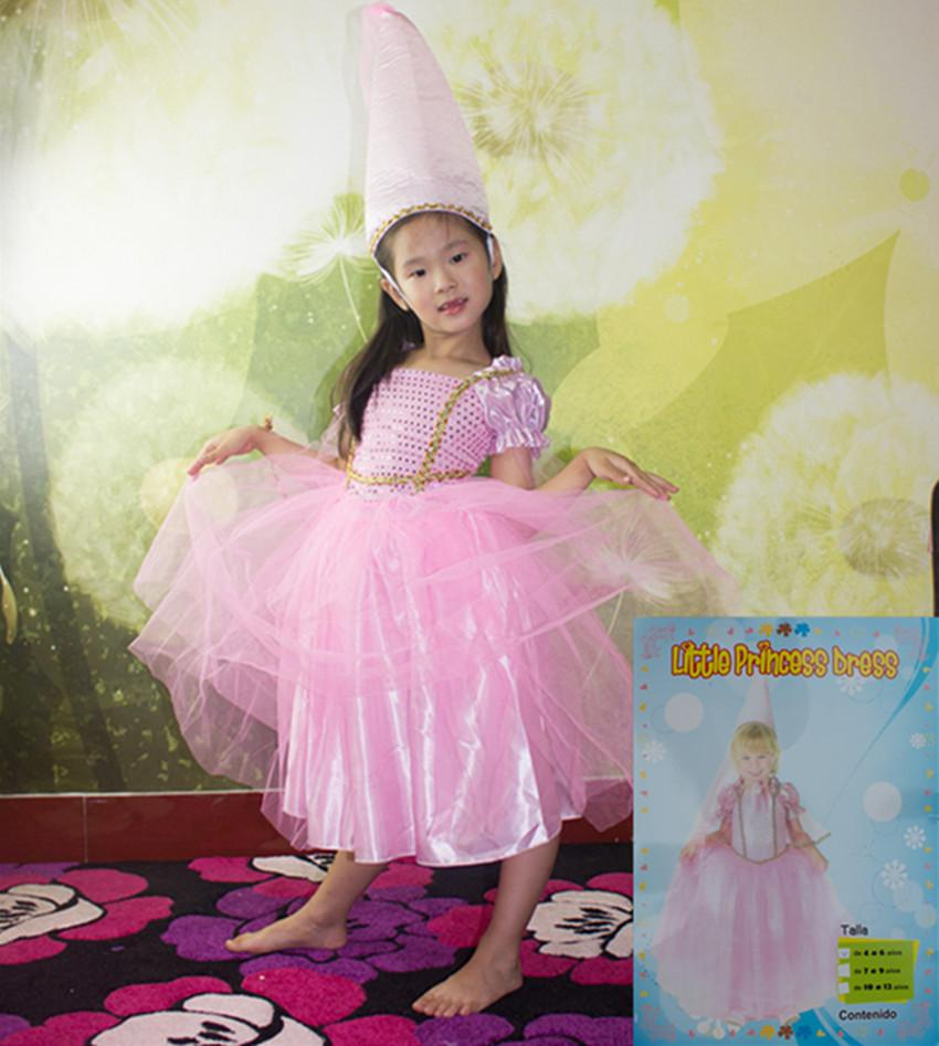 Halloween Costumes Clothes Kids Girls Children Pink Barbie Princess ...