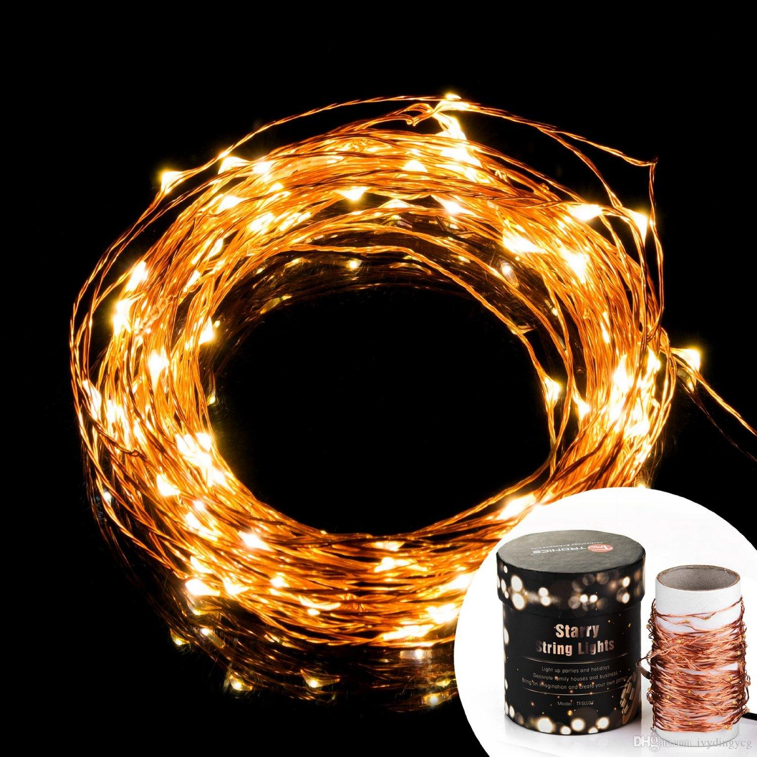 warm white prettiest led string lights copper wire lights starry string lights dcor rope lights for seasonal decorative christmas wedding - Outdoor Led String Lights
