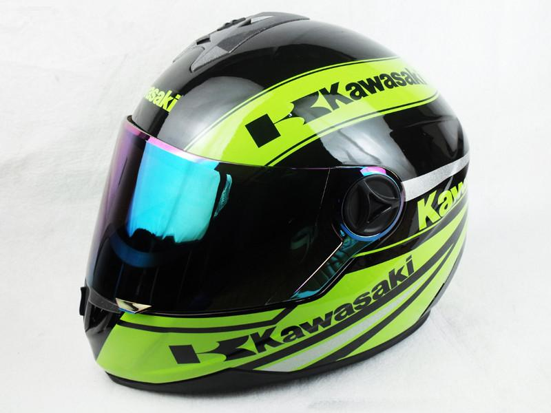 kawasaki motorcycle helmet mens full face helmet professional