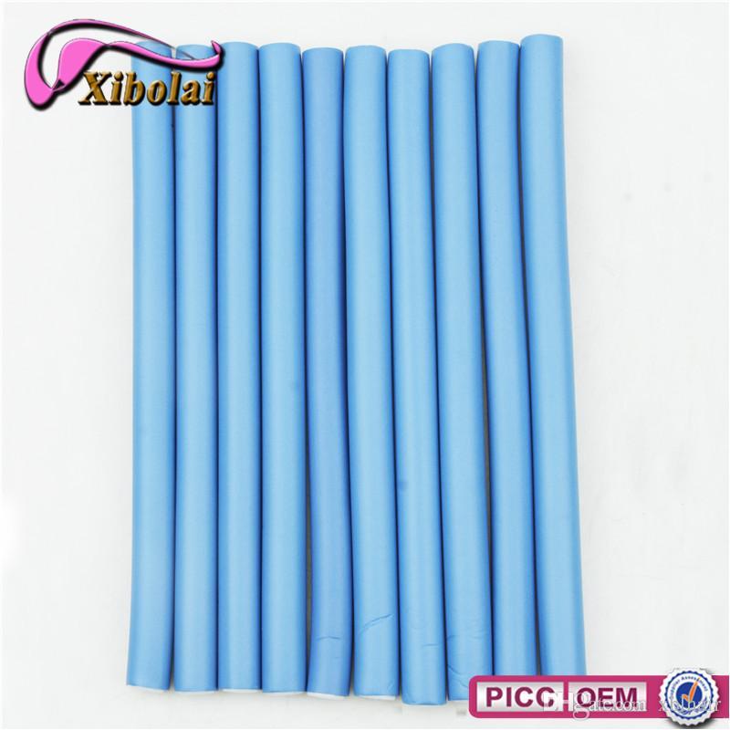 Rodillos Curling para cabello de 1.8cm de ancho Flexi Rods Magic Air Rodillo para rizadores de cabello Bendy Magic Styling Hair Sticks 10 piezas / lote