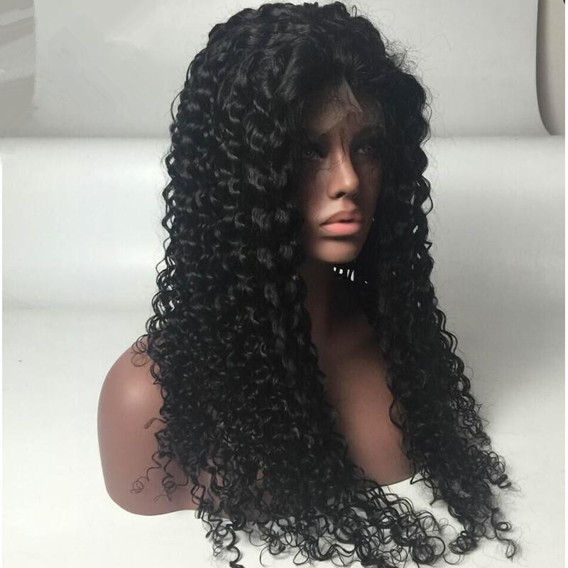 curly full lace Wigs for Black Women Malaysian hair Lace Frontal Wigs Natural Hairline hot selling style