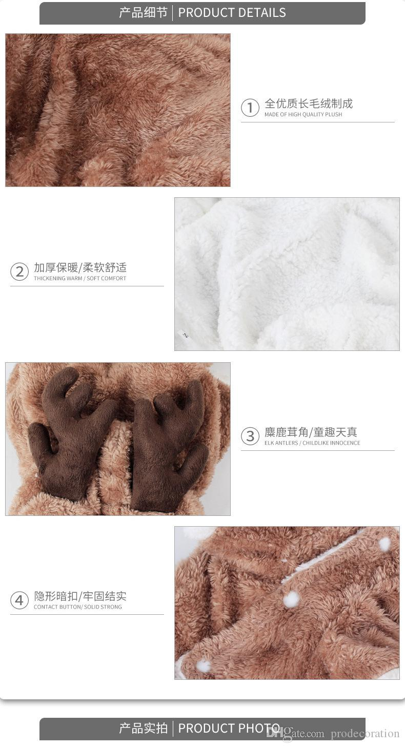 New Creative Elk Pet Clothes Tactic Christmas Pet Dog Clothes Turned With Thickened Legs Autumn And Winter Pet Supplies Top Quality