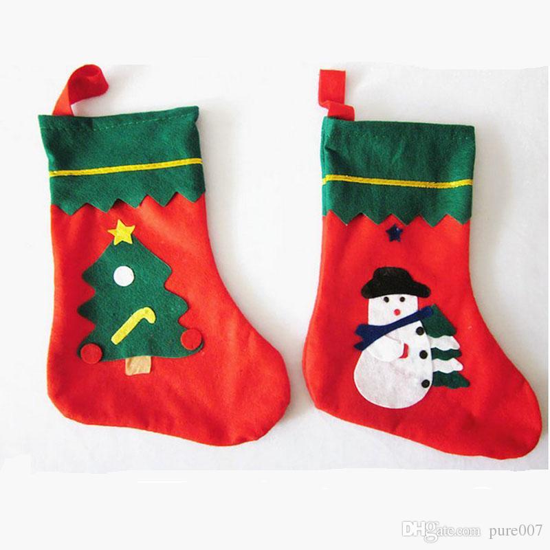 Christmas Stockings Socks Xmas Socks Decoration Santa Tree ...