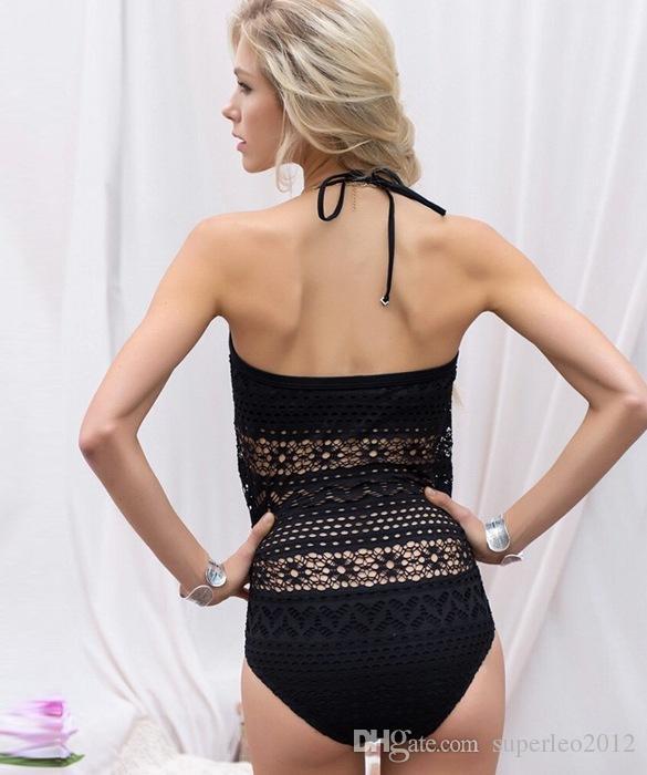 Novas Mulheres Sexy Biquíni Banho Feminino Net Biquínis Set Mar One Piece Swimsuit Ocasional Push Up Swimwear CC