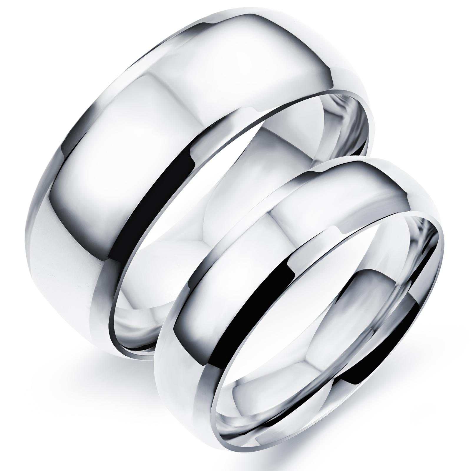 High Quality Plain Rings Stainless Steel Couple Ring Classical ...