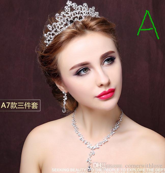 Bride headdress crown necklace three piece bridal crowns bridal see larger image junglespirit Gallery