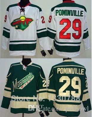 sale retailer 608cf 60381 Cheap Authentic Minnesota Wild Jersey #29 Jason Pominville Green Alternate  White Away Stitched Mens Ice Hockey Jerseys MN Wild