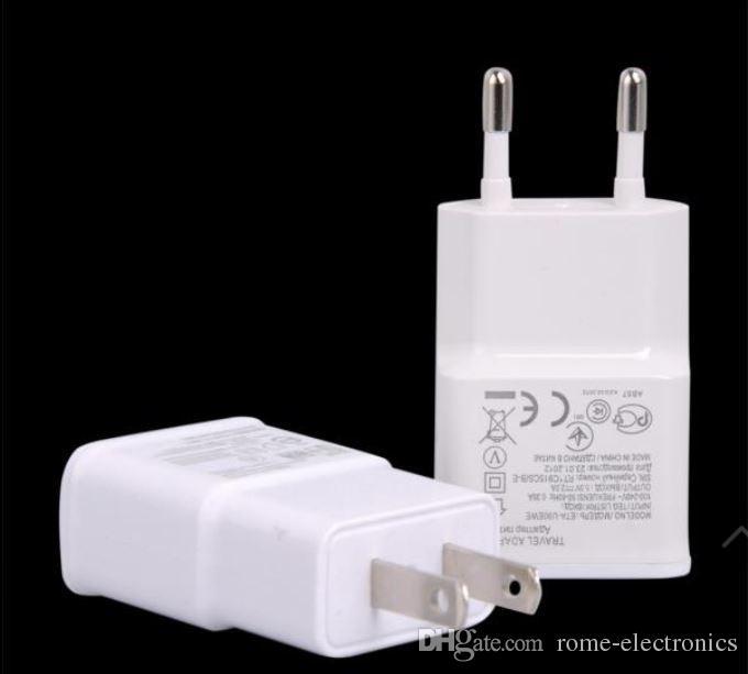 EUA usb carregador de parede usb 2a completo adaptador de tomada de energia para samsung galaxy note 2 3 4 n7100 s4 i9500 i9500 s3 i9300 s5 i9600