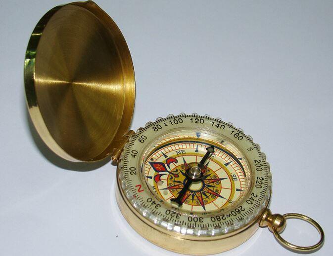 Mini Luminous Pocket Brass Watch Style Ring KeyChain Camping Hiking ...