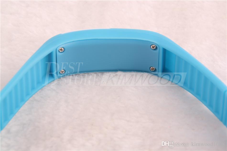 Meilleur prix!! Écran tactile de l'affichage numérique LED de rectangle de sports observe des montres-bracelet de bracelets de silicone de ceinture en caoutchouc