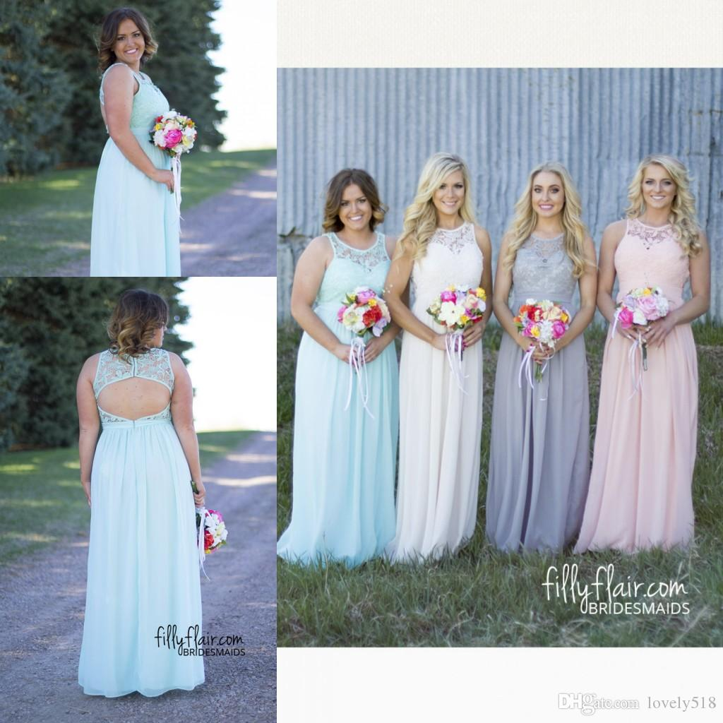 Beach Plus Size Bridesmaid Dresses Long Mint Rhinestone Formal Gowns 2015 Occasion Dress A Line Jewel Maid Of Honor Country Wedding Guest Dressed